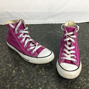 Converse ALL STAR hi tops purpuly pink
